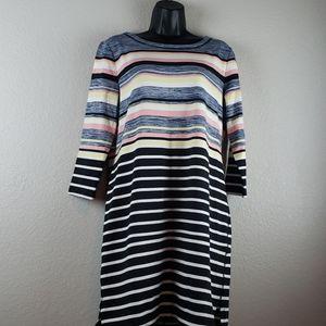 T By Talbots   NWT Women's 3/4 Sleeve Dress Sz M